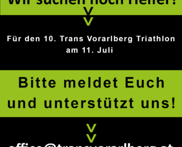 DRINGEND Helfer gesucht für den Trans Vorarlberg Triathlon!